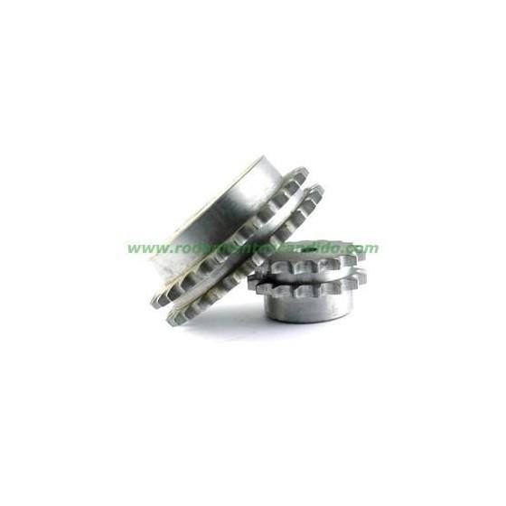 Piñones de transmisión - PIÑON DOBLE 1 1/4 10 DIENTES Z-10 20B2