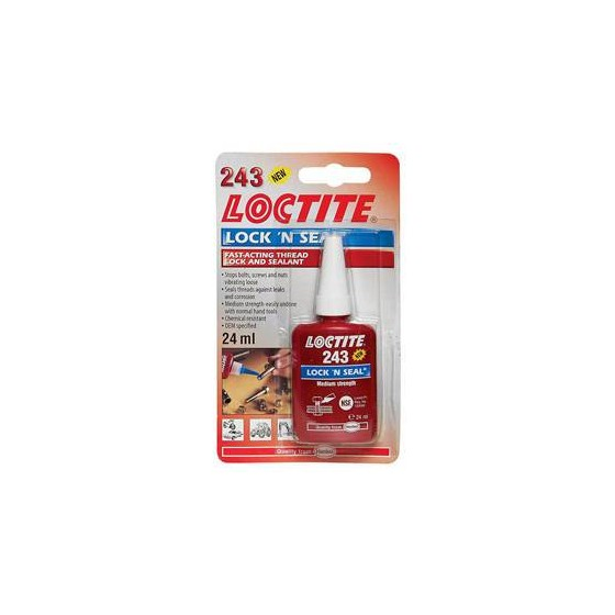 Productos químicos - Fijador de roscas Loctite 243 24 ml